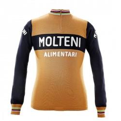 Eddy Merckx 1974 Molteni s dlouhým rukávem Jersey